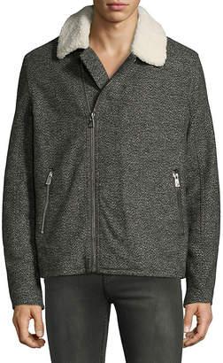 Eleven Paris Faux Shearling Trimmed Jacket