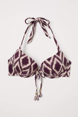 H&M Super Push-up Bikini Top - Purple