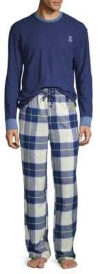 Psycho Bunny Two-Piece Flannel Lounge Set