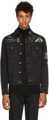 Valentino Black Denim Video Game Jacket