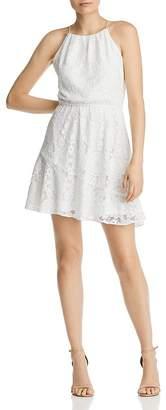 Aqua Lace High-Neck Dress - 100% Exclusive