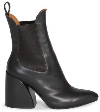 Chloé Wave Chelsea Leather Booties