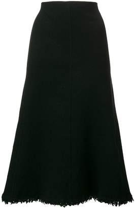 Jil Sander frayed hem a-line skirt