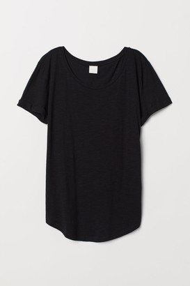 H&M Slub Jersey T-shirt - Black