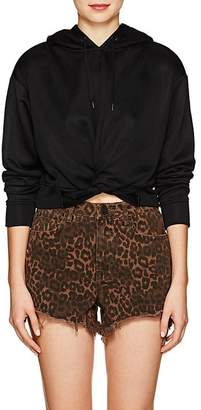 Alexander Wang Women's Twist-Front Crop Hoodie