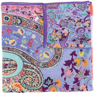 Etro paisley floral embroidered scarf