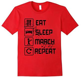 Eat Sleep March Repeat Marching Band T-Shirts