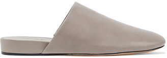 Vince - Oren 2 Leather Slippers - Gray $250 thestylecure.com