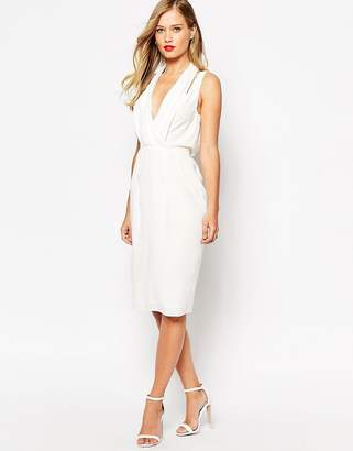 ASOS Splice Shoulder Drape Front Dress $83 thestylecure.com