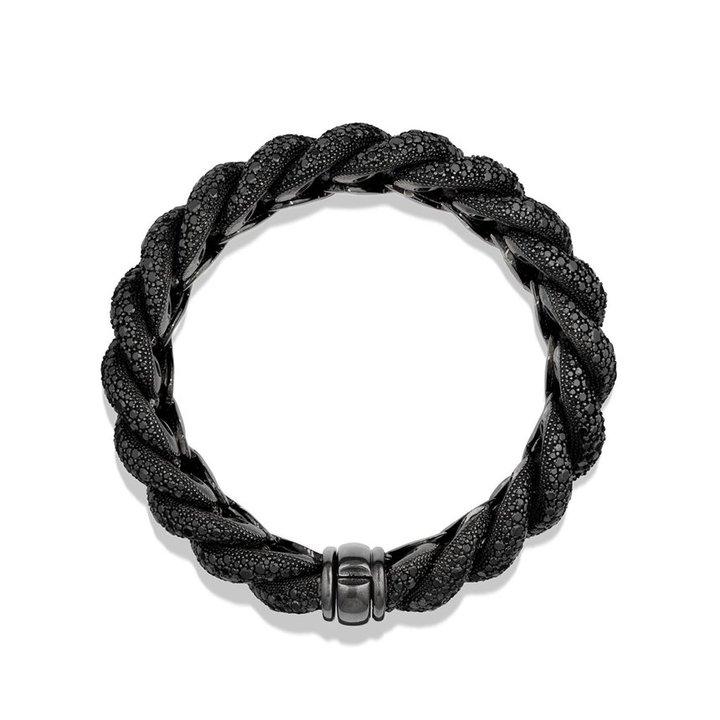 David Yurman Hampton Pavé; Bracelet with Black Diamonds