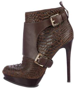 MICHAEL Michael Kors Leather High Heel Ankle Boots