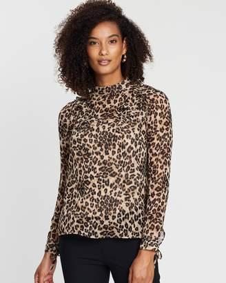 Karen Millen Ruffled Leopard Blouse
