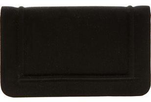 Barneys New York Satin Clutch- Black