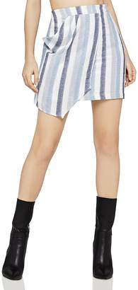 BCBGeneration Stripe Asymmetric Mini Skirt