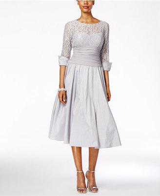 Jessica Howard Lace Three-Quarter-Sleeve A-Line Dress $149 thestylecure.com