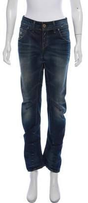 G Star Arc Mid-Rise Straight-Leg Jeans
