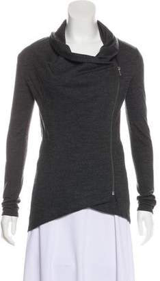 Helmut Lang Asymmetrical Long Sleeve Cardigan