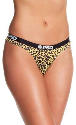 PSD Cheetah Yellow Thong