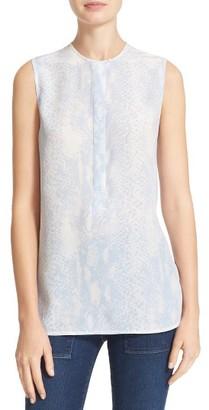 Women's Equipment Carina Print Silk Blouse $198 thestylecure.com