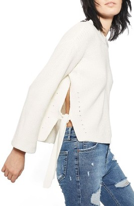Women's Topshop Tie Side Sweater $68 thestylecure.com