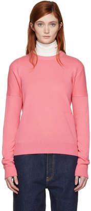 Calvin Klein Pink Cashmere Small Logo Sweater