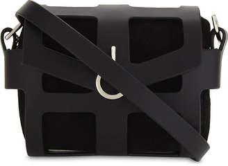 Fleet Ilya O-ring leather cage shoulder bag