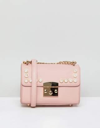 London Rebel Pink Pearl Acrros Body Bag