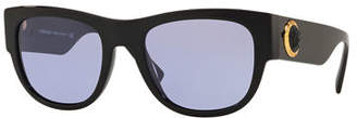 Versace Men's Square Acetate Wrap Sunglasses