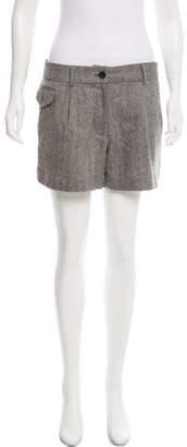Elizabeth and James Wool Herringbone Patterned Shorts