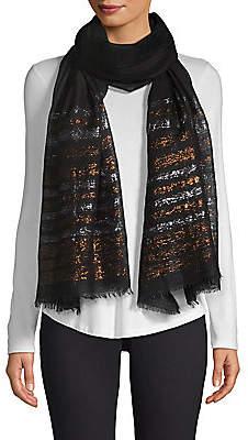 Bindya Women's Lurex Striped Cashmere Evening Stole