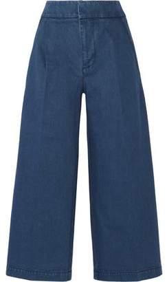 Marni Cropped Denim Wide-Leg Pants