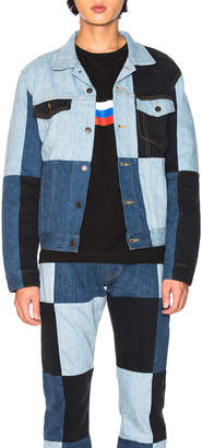 Gosha Rubchinskiy x Levi's Patchwork Jacket in Blue   FWRD