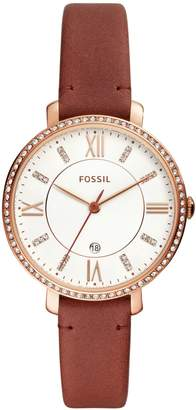 Fossil Jacqueline Three-Hand Date Terracotta Leather Watch
