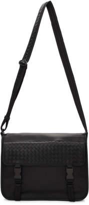 Bottega Veneta Black Large Intrecciato Messenger Bag