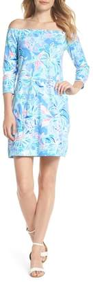 Lilly Pulitzer R) Laurana Off the Shoulder Shift Dress