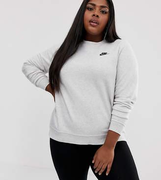 6417aa619 Nike Plus off white club fleece crew neck sweatshirt