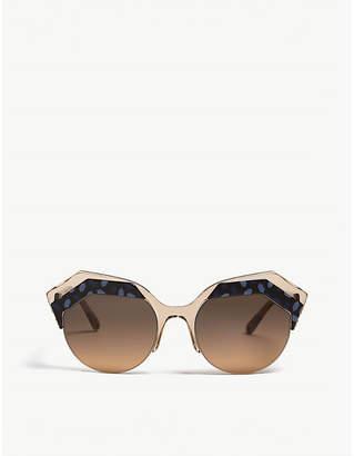 c0f504f982b1a Bvlgari Ladies Blue Floral Modern Serpenti Bv8203 Cat-Eye Frame Sunglasses