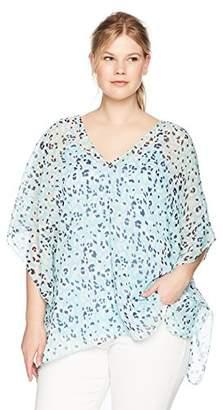 8b42ffe24ba at Amazon.com · NYDJ Women s Plus Size Chiffon Caftan Popover