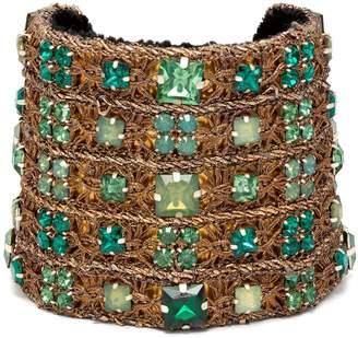 REBECCA DE RAVENEL Carmen embellished cuff