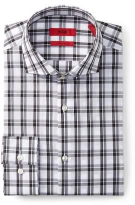 BOSS Jason Long Sleeve Slim Fit Checkered Dress Shirt
