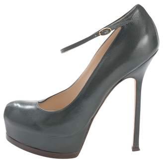 Saint Laurent Green Leather Heels