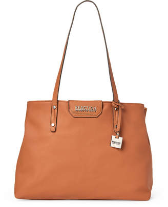 Kenneth Cole Reaction Tan Elva Faux Leather Satchel