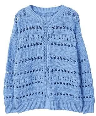MANGO Open work-detail sweater