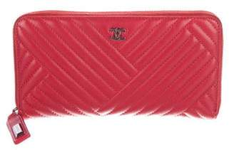 Chanel CC Crossing Zip-Around Wallet