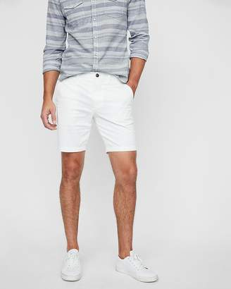 Express Slim Fit 9 Inch Flat Front Shorts