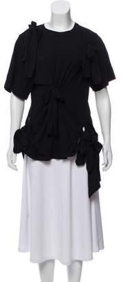Simone Rocha Embellished Short-Sleeve Top