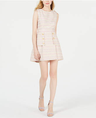 Laundry by Shelli Segal Embroidered Button A-Line Dress