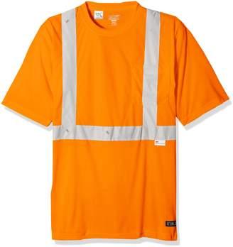 Berne Men's Big and Tall Hi-Visibility Short Sleeve Pocket Tee Shirt