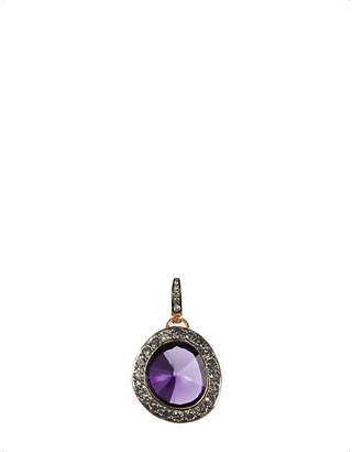 Annoushka 18ct rose gold amethyst and grey diamond pendant
