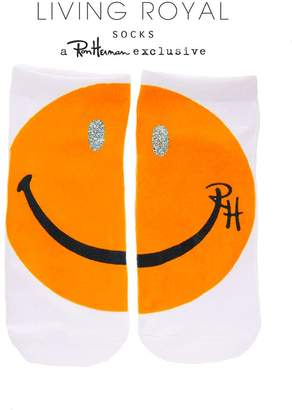 LIVING ROYAL RH Glitter Happy Face Ankle Socks